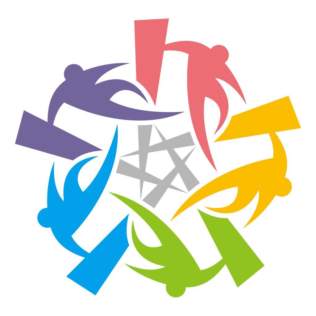 全日本パルクール連盟カラーロゴ。文字なし。