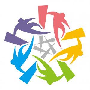 全日本パルクール連盟ロゴ(文字無し、カラー)